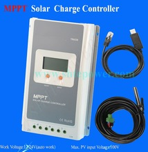 High Efficiency mppt tracker Auto switch 12 volt 24 volt lcd solar charger controller 12v 30a(China (Mainland))