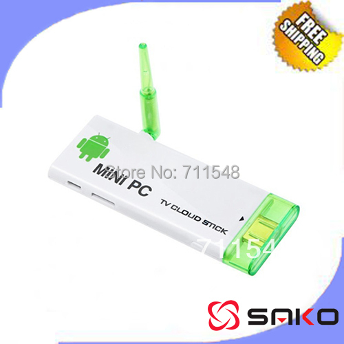 Free shipping- Android 4.1 Mini PC TV stick Rockchip RK3066 1.6Ghz Dual core 1G RAM 4G ROM WiFi antenna CX-803