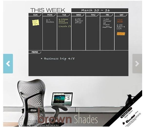 Blackboard Weekly Wall Planner Chalkboard Decal Decorative
