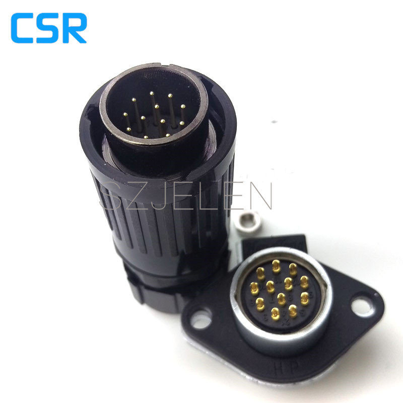 WEIPU WP20 series, 12-pin Cable waterproof and dust connector, connector 12 pin aviation plug male + panel connector(China (Mainland))