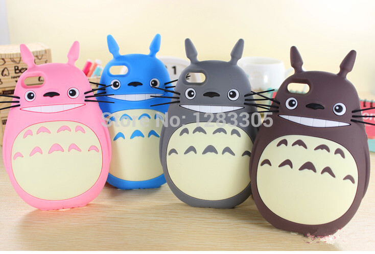 Hot Arrival 4.7 Inch iphone 6 case cover Cute 3D Cartoon Totoro Model Lovely Gift Silicone Protection Phone Cases Covers - shenzhen MX CO LTD store