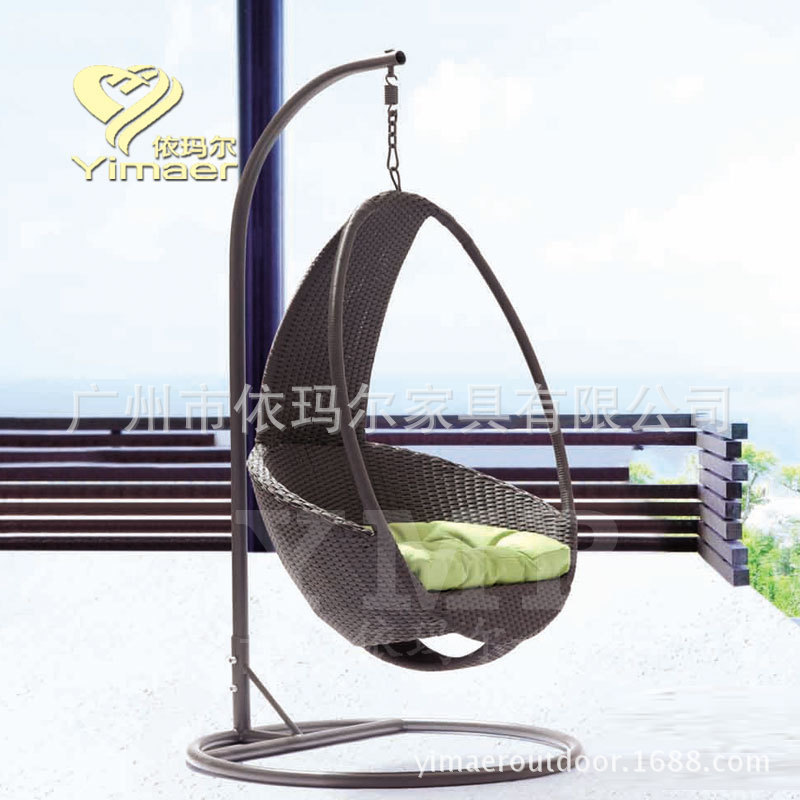 Outdoor rattan swing hanging chair rattan baskets europe for Outdoor furniture europe