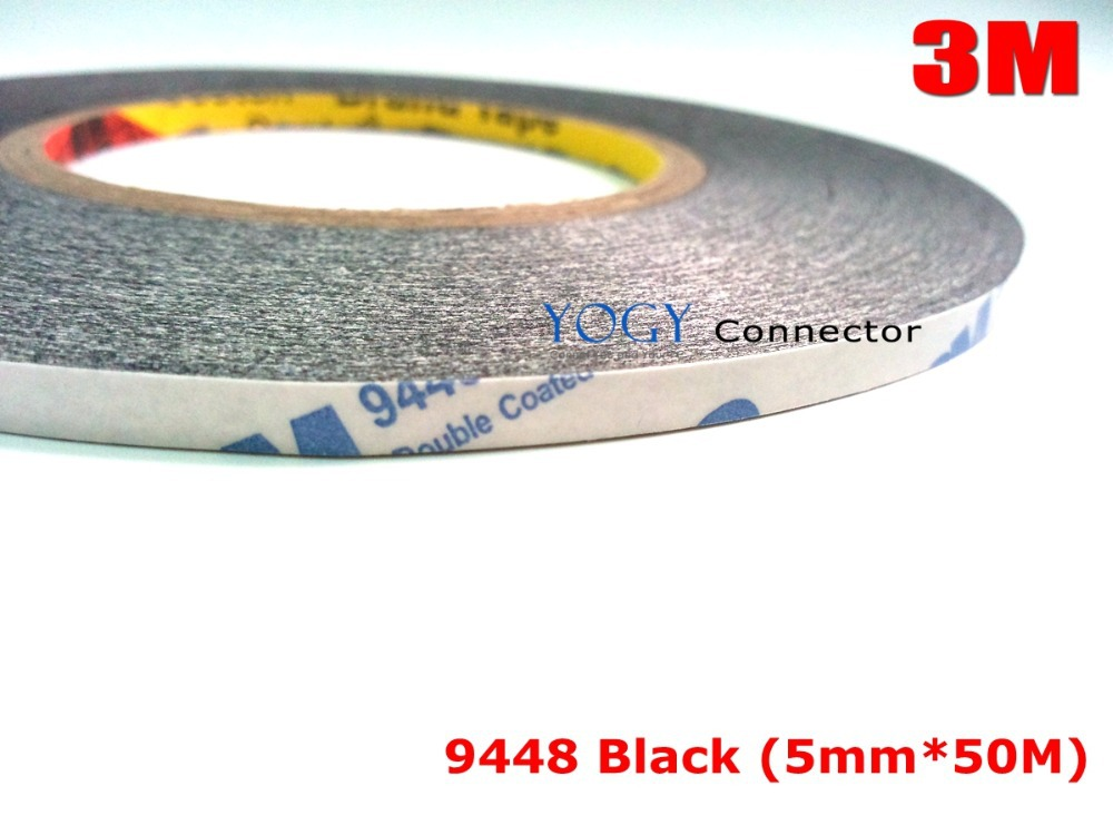 5mm * 50 meters 3M 9448 black Double Sided Adhesive Tape Sticky Phone LCD Touch Pannel Display Screen Repair /Logo Adhesive