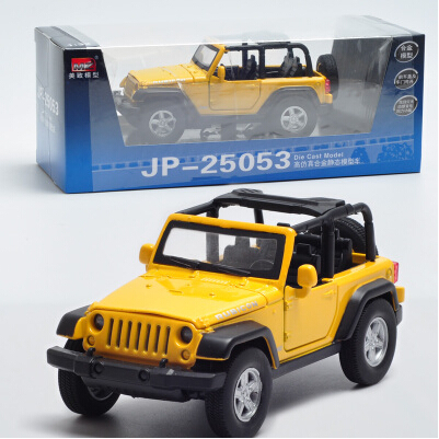 MZ JEEP Wrangler 1:32 Car Model Alloy Flashing Pull Back Convertible SUV Off-road roadster Baby Toy Military vehicle(China (Mainland))