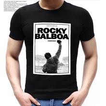 ROCKY BALBOA Printing T-Shirt Famous Movie ROCKY BALBOA POSTER T Shirts 2016 Summer Cotton Short Sleeve Polyester Tops Tees
