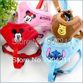 2015 HOT SALE New arrival Cartoon embroider pet dog cat harness leash pet harness pet products free shipping