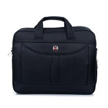 Fashion Vintage Men Black Nylon Laptop Bag Computer Accessories BG-0658-BK(China (Mainland))