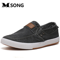 MSONG New 2017 Men Canvas Shoes High Quality Breathable Fashion Classic Men Casual Denim Shoes Zapatos