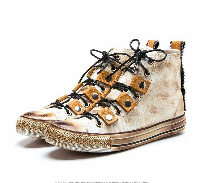 Breathable Women Fashion Sneakers Plus Size 35 42 Print Vintage Women Flats Shoes Neon Yellow ...