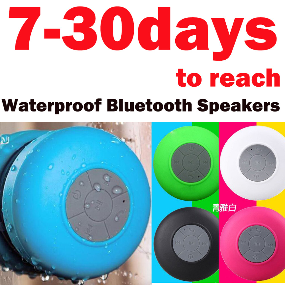 Portable Subwoofer Shower Waterproof Wireless Bluetooth Speaker Car Handsfree Receive Call Music Suction Phone Mic For iPhone E8(China (Mainland))