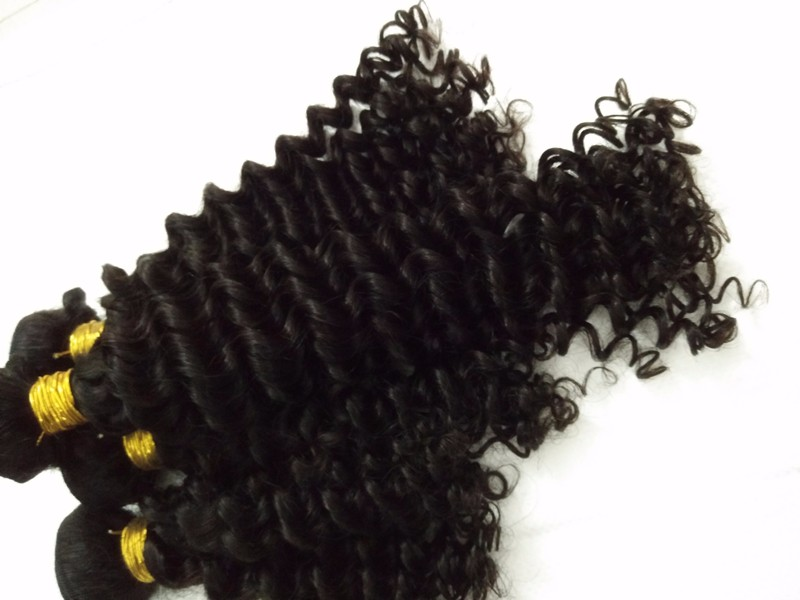 8A unprocessed virgin Malaysian human natural hair tight deep jerry curly hair extensions ,mixed lengths 3pcs/lot,free shipping