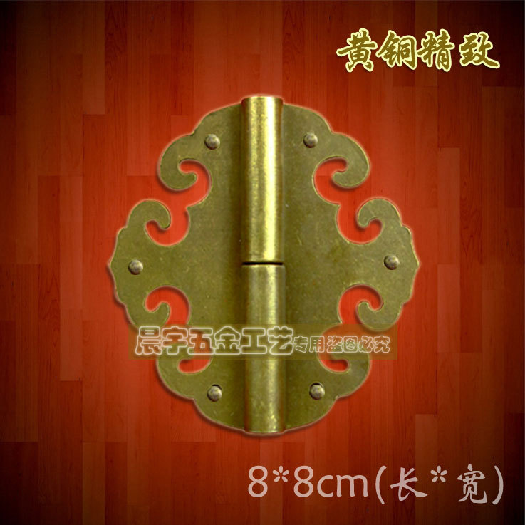 80*80mm 2pcs vintage bronze copeer cabinet hinges antique big size wooden gift wine box hinge hardware accessories(China (Mainland))