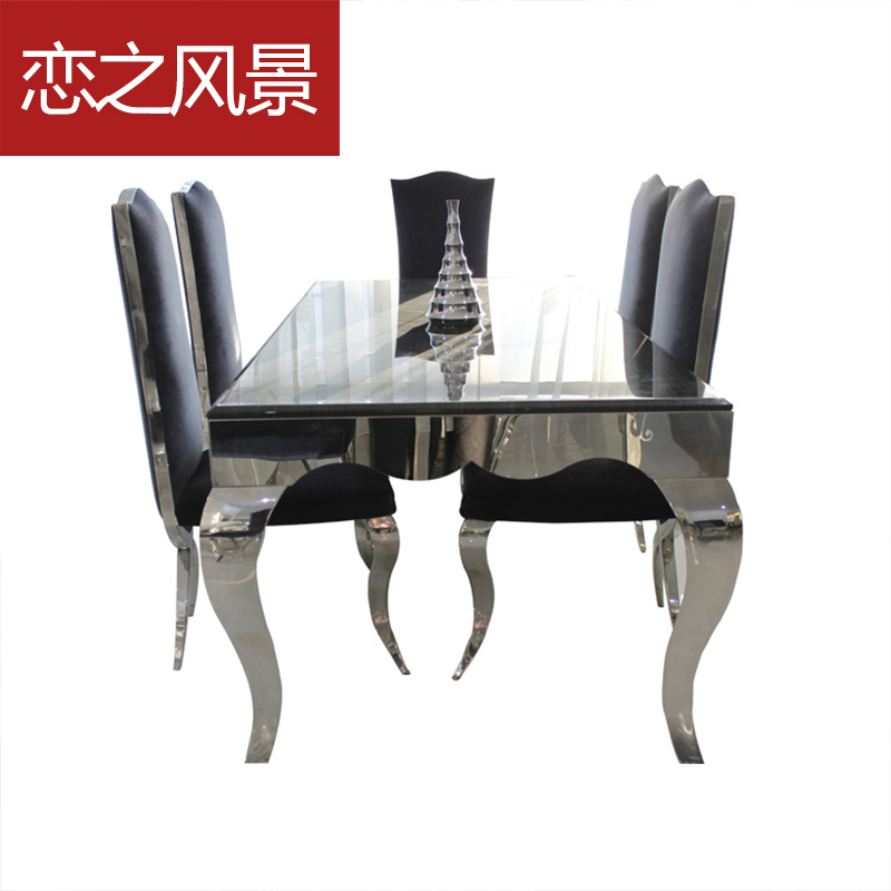 Dining Table Marble Dining Table And Chairs Combination Of Neoclass