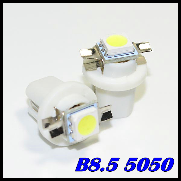 50Car Auto LED T5 B8.5D 1 led smd 5050 Wedge Light Bulb Lamp 1SMD White/Green/Blue/Red/Yellow - Sun Optoelectronic store