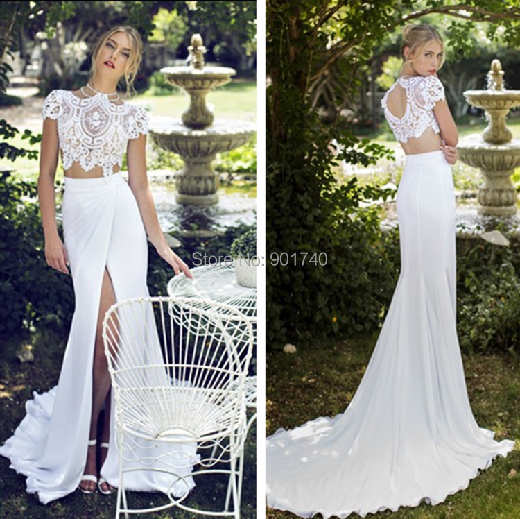 Elegant 2 Piece Wedding Dresses : Aliexpress buy new listing fashionable bridal