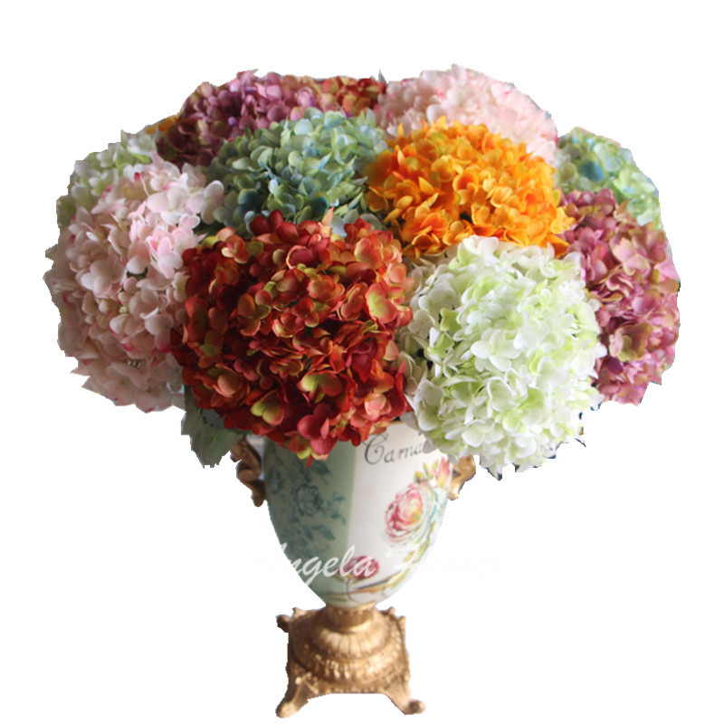 Vivid Retro colors Luxurious palace hydrangea silk artificial flower ball big size home wedding flower bouquet High quality(China (Mainland))