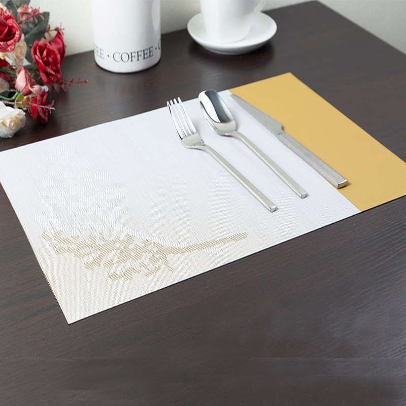 4pcs Mats of pvc Placemat Table Mats Breakfast and Dining Mat Plate Decoration MZat-1022 Home Kitchen Mats and Pads on the Table(China (Mainland))