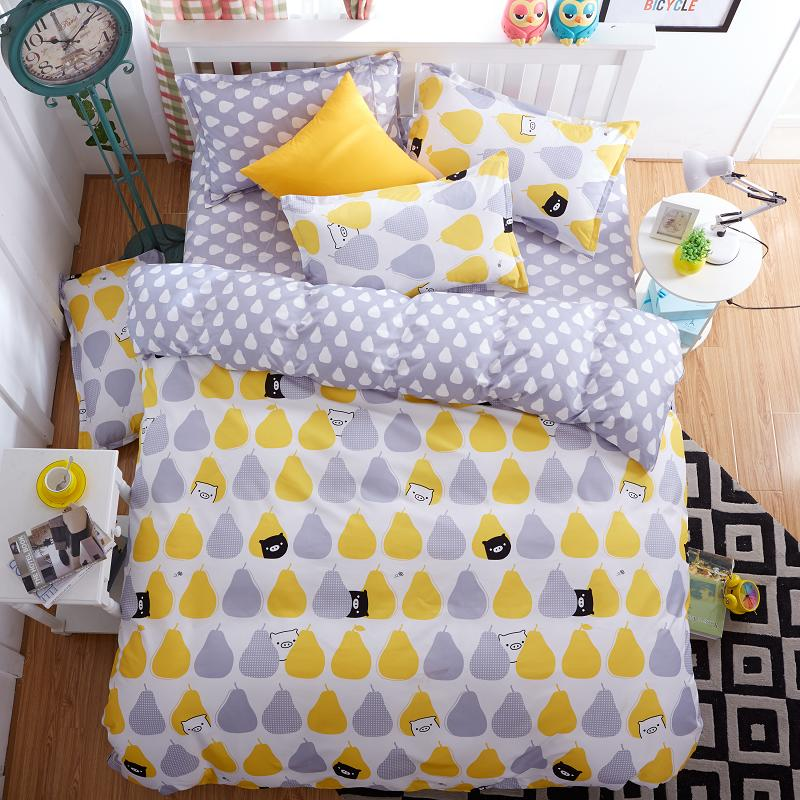 2016 New bedding set polyester / cotton duvet cover set modern style bed linens home textile modren fashion bed set AB side bed(China (Mainland))