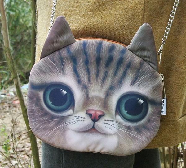 Woman Message bag shoulder bag sac a main Brand famous Crossbody cat bag designer handbag black Bag Cute Animal bag for Children<br><br>Aliexpress
