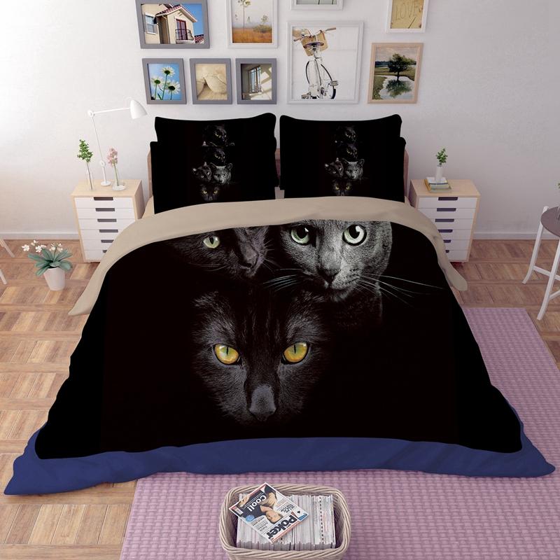 cat print bedding promotion shop for promotional cat print. Black Bedroom Furniture Sets. Home Design Ideas