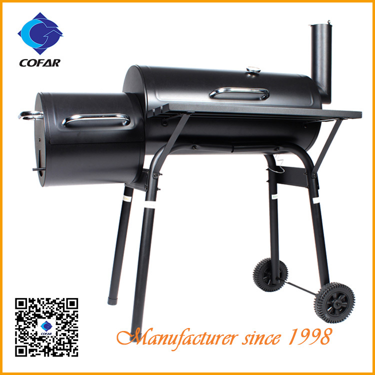 Iron Steel Charcoal BBQ Grill Garden Meat Smoker(China (Mainland))