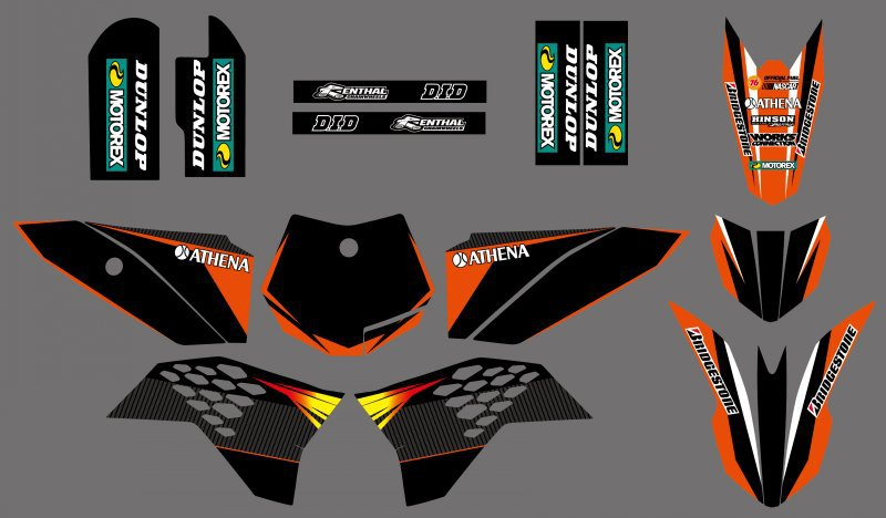 0253 New style Team 3M DECALS STICKERS Graphics Kits SX50 50CC 50 50SX KTM50 2009 2010 2011 2012 2013 - DIRT BIKE store