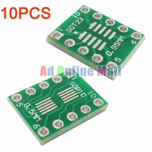 10PCS/LOT Adapter Plate sot23 msop10 umax Turn Dip10 0.5mm 0.95mm Pitch(China (Mainland))