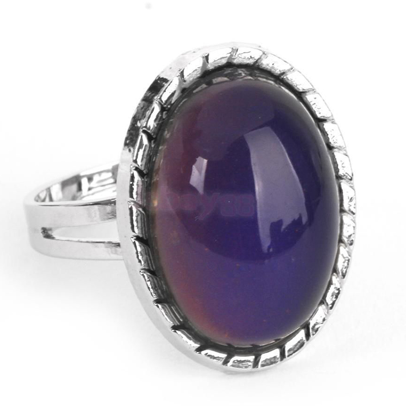 Vintage Retro 70s Oval Mood Ring Color Changeable Emotion Feeling Adjustable New(China (Mainland))
