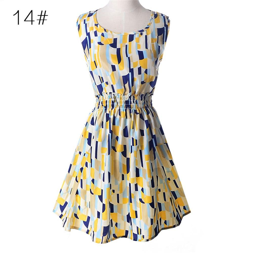 Fashion Tunic Women Dress 2016 Plus Size XXL O-neck WOMEN DRESS Summer Style Floral Print Casual Dresses Women Vestidos Woman (40)