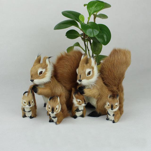 2 ШТ. Новый Моделирования Белка Куклы Украшения Милый Кролик Детские Игрушки Подарок На День Рождения Творческий Украшения Дома Minecraft Плюшевые Животные