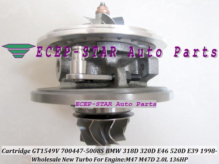 Turbo CHRA Cartridge Turbocharger Core GT1549V 700447-5008S For BMW 318D 320D E46 520D E39 1998- M47 2.0L 136HP (3)