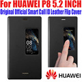 Case For HUAWEI P8 100 Original Official Smart View Case Call ID Leather flip Cover for