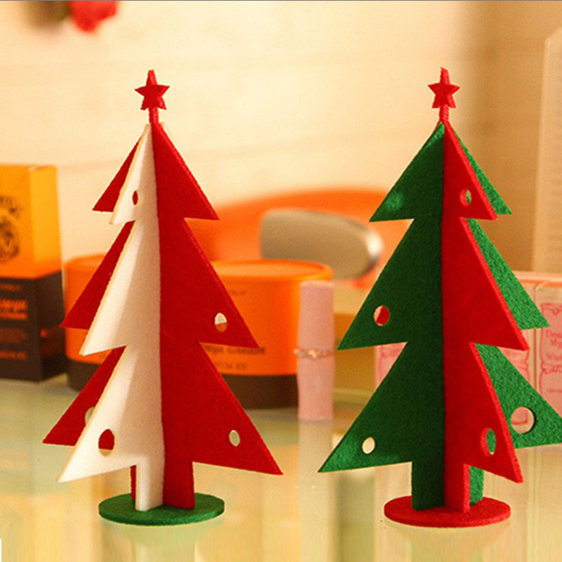 2016 Real Christmas Decorations For Home 2pcs/lot Newest Diy Christmas Indoor Decoration Supplies Tree 21x14cm Free Shipping(China (Mainland))
