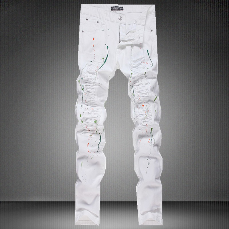 Men's designer white jeans – Global fashion jeans models
