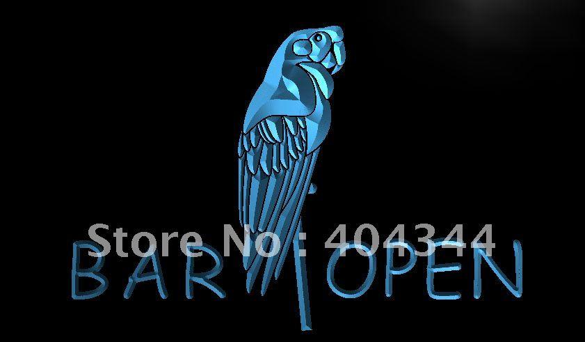 LN046- Bar Open Parrot LED Neon Light Sign home decor crafts(China (Mainland))