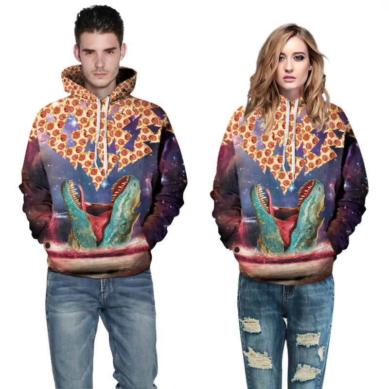 East Knitting F1500 Funny Hoddies/Sweatshirts 2016 Winter New Style Men's Hooded Sweatshirts 3D Animal Print Tops Men(China (Mainland))