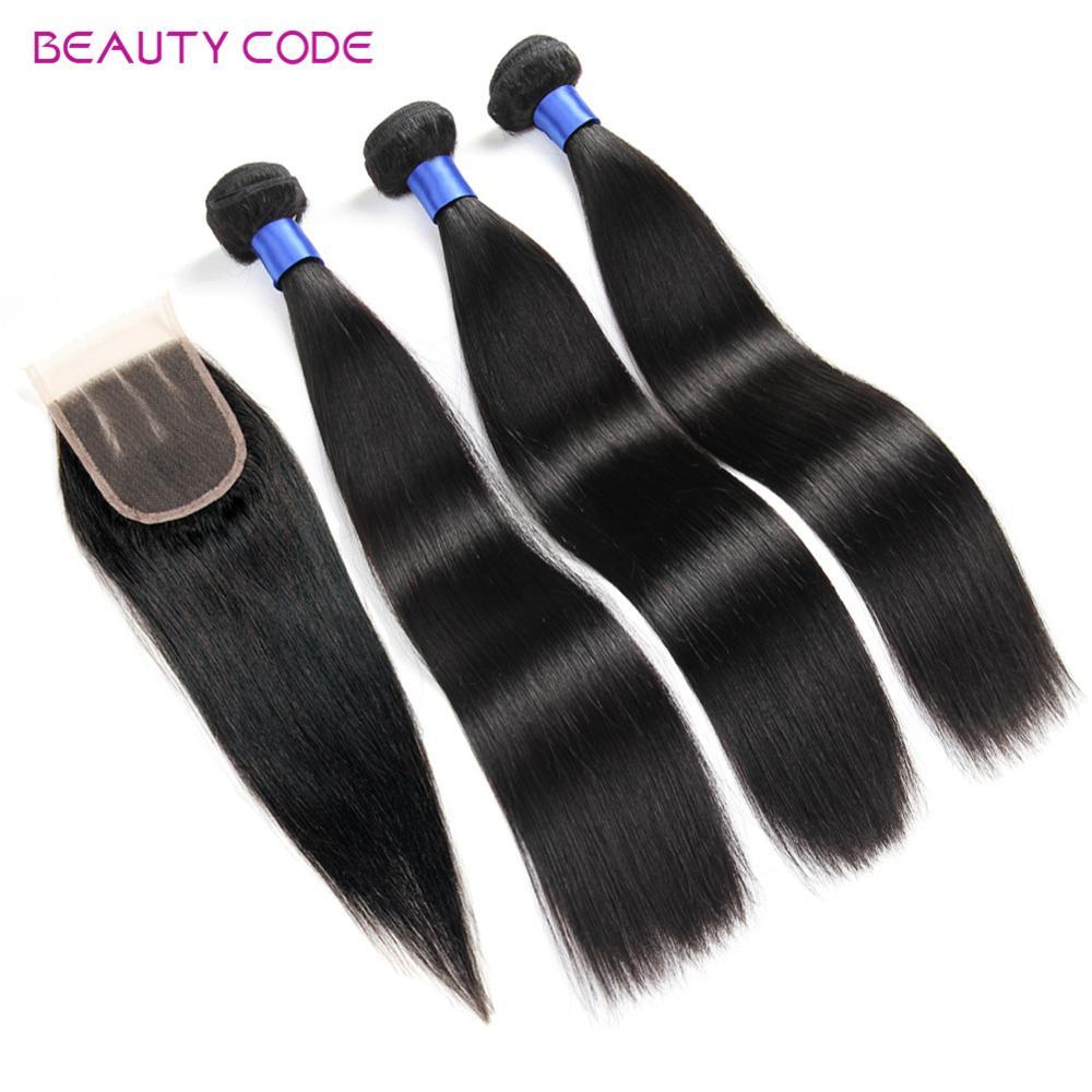 Malaysian Virgin Hair With Closure Grade 8A Unprocessed Malaysian Straight Human Hair Weave With Closure 3 Bundles With Closure(China (Mainland))