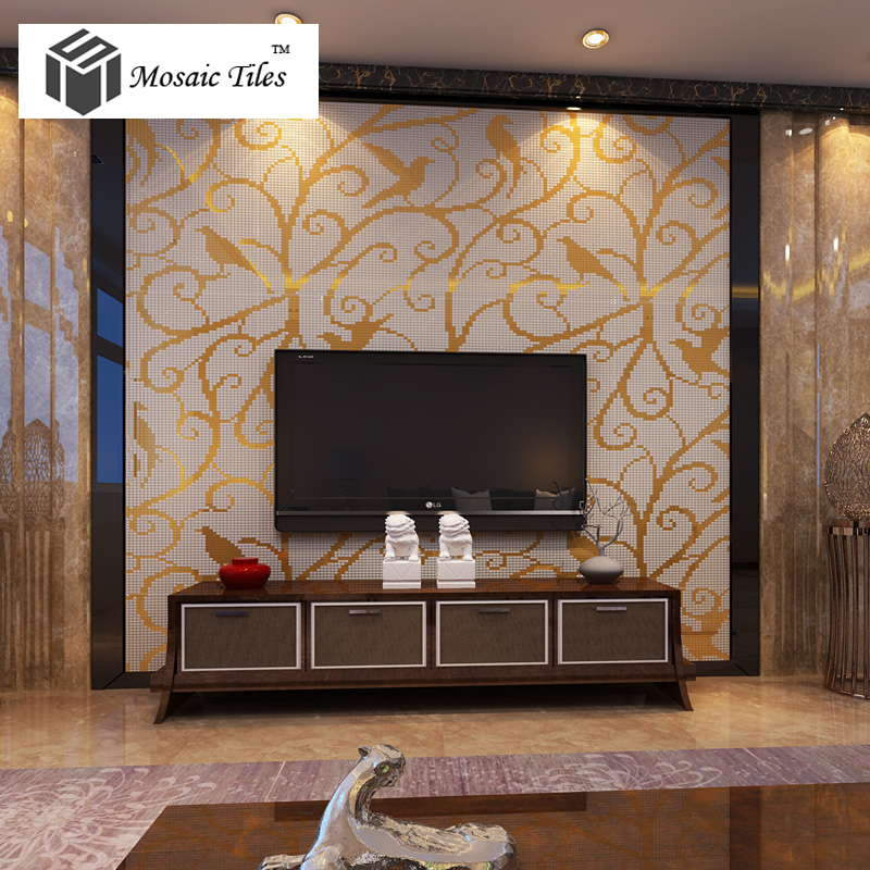 Magpie Pattern Mosaic Bisazza Style customized wall mosaics hotel remolding shower wall interior wall design ideas glass tile<br><br>Aliexpress