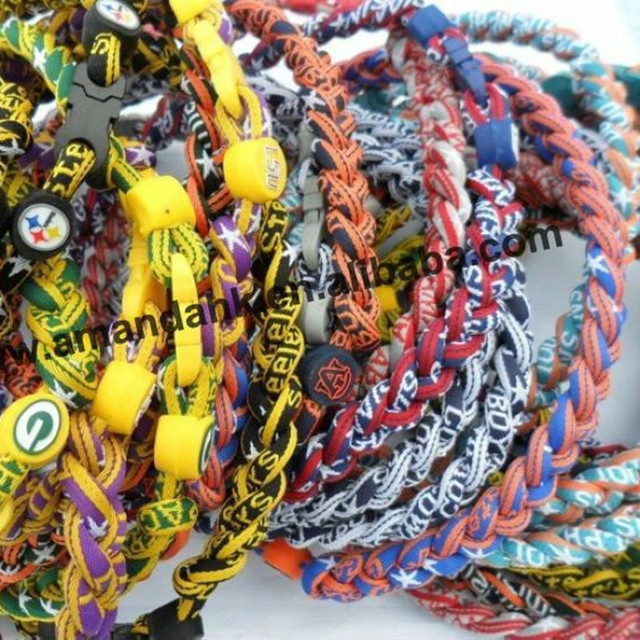 100pcs/lot wholesales 3 ropes necklaces magnetic balance sport custom necklace 16/18/20/22 inch 100pcs/lot hot necklace