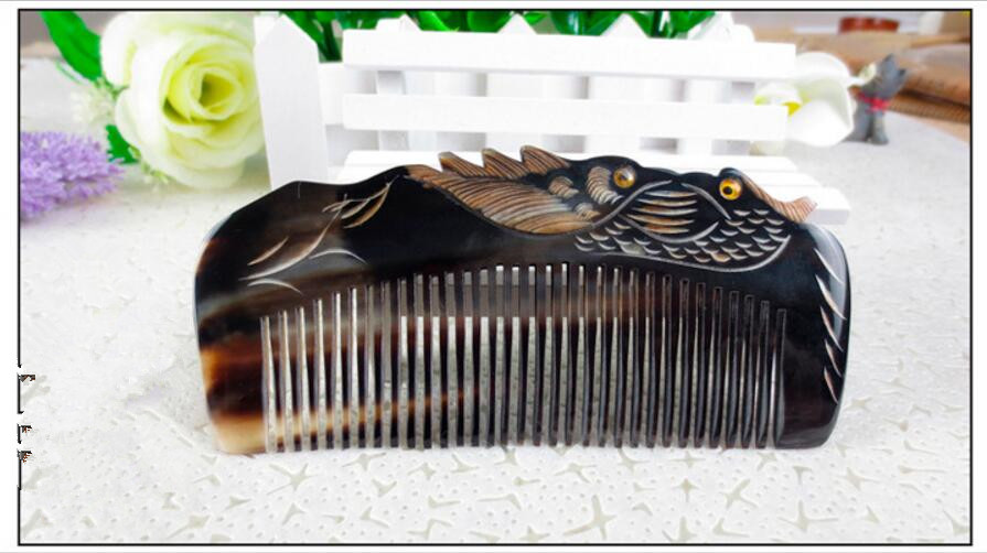 lover birds design Natural Buffalo horn Comb Wide Tooth No-static head Massage Hair Brush Health care Hair Styling combs peine  lover birds design Natural Buffalo horn Comb Wide Tooth No-static head Massage Hair Brush Health care Hair Styling combs peine