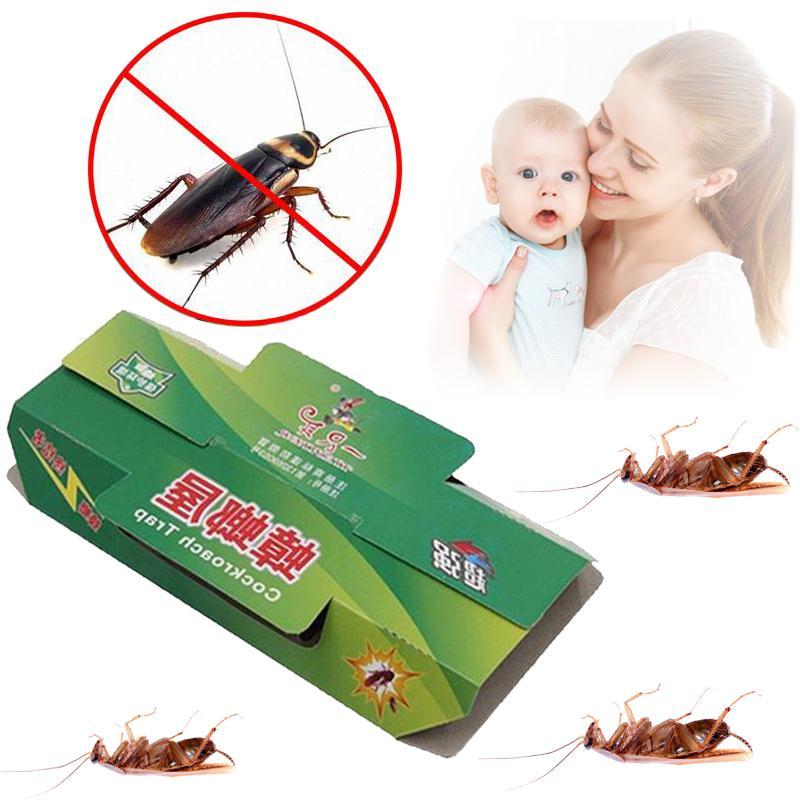 2Pcs/Lot Bait Sticker Trap Set Pest Reject Cockroach Repeller Insect Killer Cockroaches Killing Pest Repeller Insect Repellent(China (Mainland))