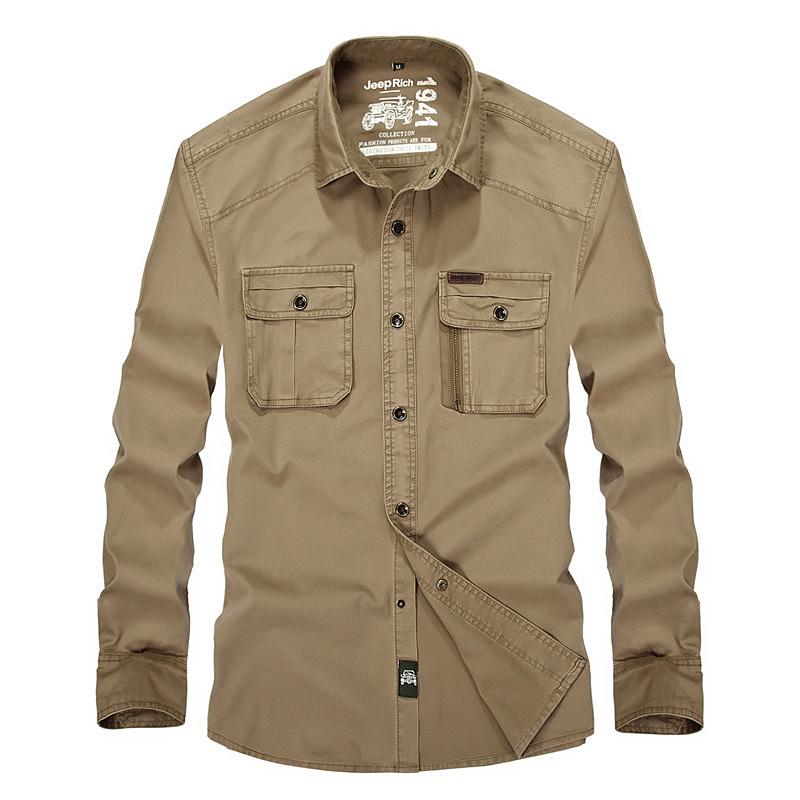 Plus Size Army Green Shirt