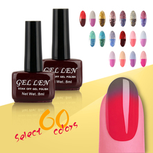 Gel Len Chameleon temperature change nail color uv gel nail polish Lacquer 8ml Long-lasting Soak off gel polish for Nail Gel
