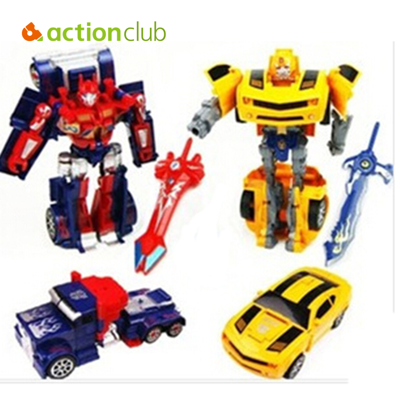 Hot Boy Gift Action Toy Figures 16 cm/Bumblebee Movie Optimus Prime Transformation Robot Model Class Car HT72400 - Bestore Baby Co.,Ltd. store