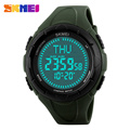 SKMEI Men Sports Watches World Time Compass Countdown Wristwatches 50M Waterproof 3 Alarm Digital Watch Relogio