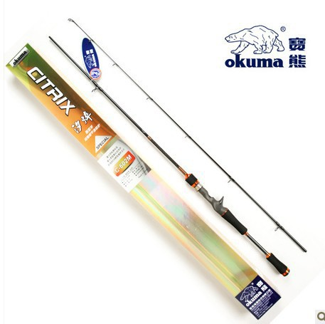Genuine okuma Bao Xiong Xi quenching whole Fuji 1.8 1.98 2.1 m M tune grips road sub rod fishing rod<br>