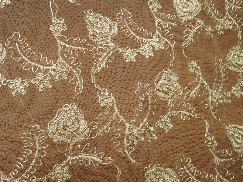 Buy 3yard 120cm gold lace fabric for for Wedding dress fabric stores