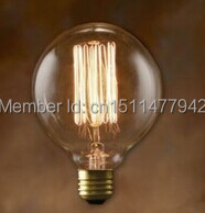 50pcs/lot G95 Hot Selling Vintage Edison Style Light Bulbs for Glass Hanging Pendant Light(China (Mainland))