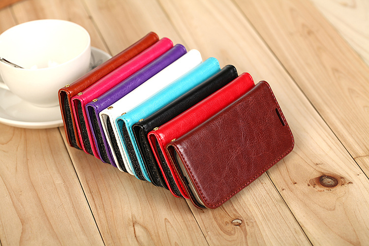 Luxury stand Leather Wallet Case Samsung Galaxy S4 mini S5 - unitedbravery store