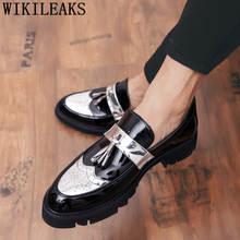 Мужская обувь с перфорацией типа «броги»; элегантные итальянские вечерние мужские туфли; брендовая Свадебная Мужская обувь; официальная об...(China)